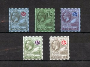 ANTIGUA SCOTT#53/57 1SH TO 4 SHILLING HIGH VAUES MINT HINGED