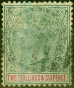 Lagos 1887 2s6d Green & Carmine SG39 Good Used