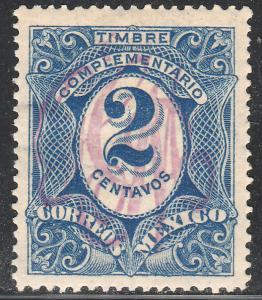 MEXICO 382, 2c LARGE MONOGRAM HANDSTAMP UNUSED, H OG. F-VF.(350)