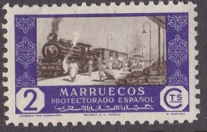 Spanish Morocco # 264, Commerce by Railroad - Trains, NH