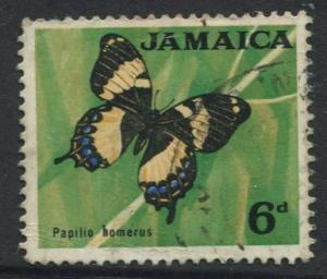 Jamaica -Scott 223 - Definitive Issue -1964 - Used - Single 6p Stamp
