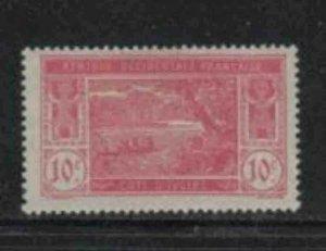 IVORY COAST #47 1913 10c RIVER SCENE MINT VF LH O.G