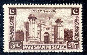 PAKISTAN - 1948 - SG 22     3 anna   mm  -