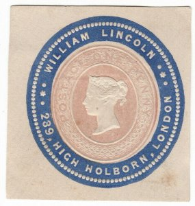 (I.B) QV Postal : Newspaper Wrapper - William Lincoln 1d (Advertising Ring)