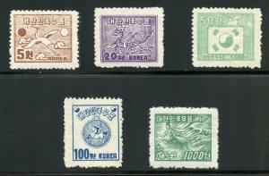 KOREA SCOTT#122/26 MINT NEVER HINGED ORIGINAL GUM==SCOTT VALUE $125.00