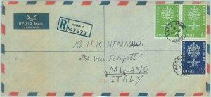 84377 - GHANA - Postal History - REGISTERED COVER to ITALY 1962 - MALARIA