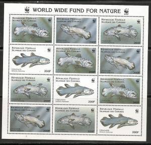 Comoro Islands 833 1998 WWF Fish m/s MNH