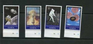 SAMOA 30th ANNIVERSARY OF THE FIRST MOON LANDING  SET  MINT NH