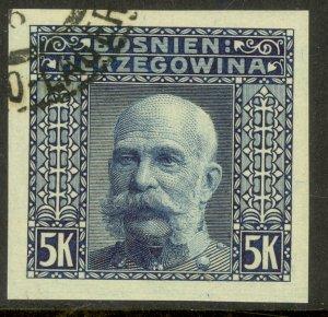 BOSNIA AND HERZEGOVINA 1906 5K FRANZ JOSEPH Imperf Sc 45b VFU