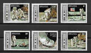 Rwanda MNH 951-6 Space Astronauts On The Moon SCV 4575