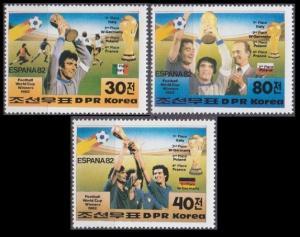 1982 Korea, North 2269-70+2271 1982 World championship on football of Spain 9,20