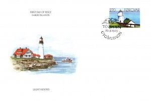 Faroe Islands, Worldwide First Day Cover, Lighthouses