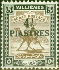 Sudan 1941 4 1/2p on 5m Olive-Brown & Black SG79 Fine MNH
