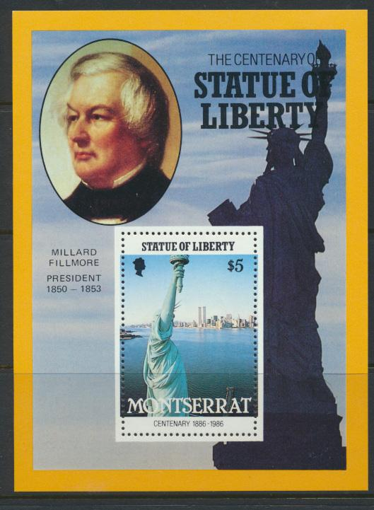 Montserrat    SG  MS709 - 3 sheets  SC# 636-638 Statue of Liberty  1986