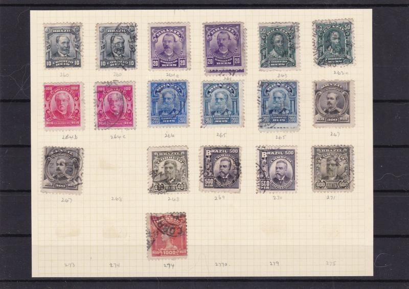 brazil 1906 used stamps ref 7385