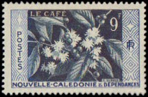 New Caledonia #300-302, Complete Set(3), 1955, Hinged