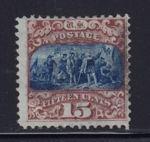 119 F-VF used neat face free cancel with nice color cv $ 200 ! see pic !