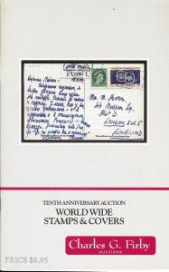 Firby:    Worldwide Stamps & Covers: Tenth Anniversary Sa...