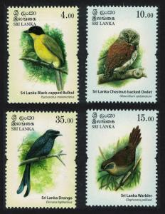 Sri Lanka Bulbul Owl Warbler Drongo Birds 4v