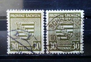 Germany Provinz Sachsen Mi 83 a+b