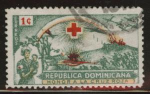 Dominican Republic Scott 408 used 1944 Red Cross stamp