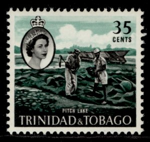 TRINIDAD & TOBAGO QEII SG293, 35c emerald & black, M MINT.