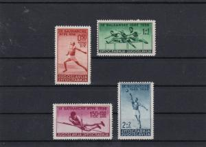 Yugoslavia 9th Balkan Games Mounted Mint Stamps Ref 30609