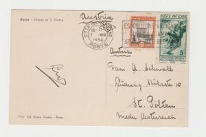 VATICAN -AUSTRIA 1936 CHIESA di S.PIETRO CARD, 25c RATED (SEE BELOW)