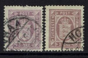 Denmark SC# O6 and O9A, Used, Hinge Remnant -  Lot 032617