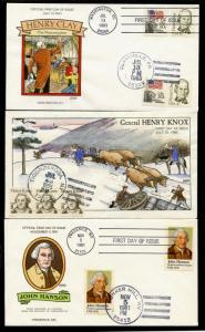 (5) DIFFERENT COLLINS PEOPLE & FDC CACHETS HAND PAINTED BQ1538
