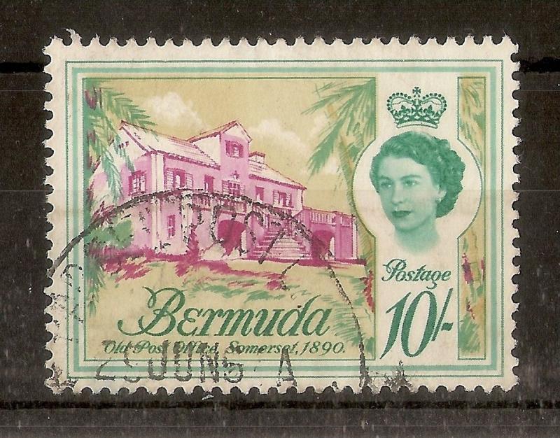 Bermuda 1962 10/- SG178 Fine Used