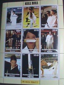 CONGO STAMP:2003- KILL BILL- JAPANESE MOVIE MNH SHEET