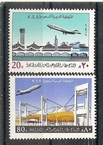 Saudi Arabia  818-9 MNH 1981 Jedda Airport Opening
