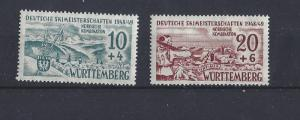 Germany (Wurttemberg), 8NB5-8NB6, Occupation Stamps Singles, **MNH**, (LL2019)
