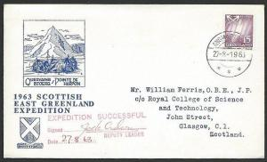 GREENLAND 1963 Scottish Expeditiion signed cover...........................48550