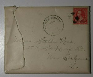 US Sc#267 Used On Cover South Haven MI 1897 Letter Contents