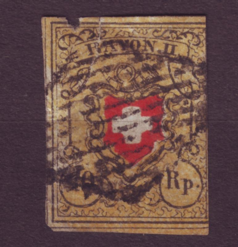 J12650 JLstamps 1850 switzerland used #8 $125.00 scv