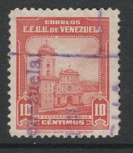 Venezuela 1943 10c used South America A4P53F32