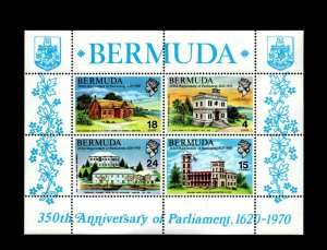 BERMUDA - 1970 - QE II - PARLIAMENT - STATE HOUSE - ASSEMBLY - MINT NH S/SHEET!