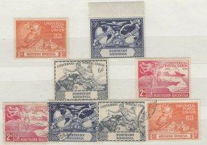 Northern Rhodesia KGVI 1949 UPU Sets x 2 MNH/MLH/VFU J9636