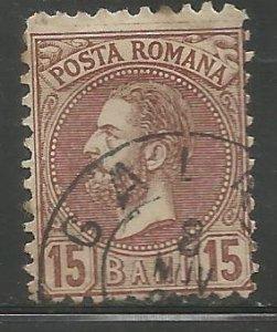 ROMANIA  73  USED,  KING CAROL I