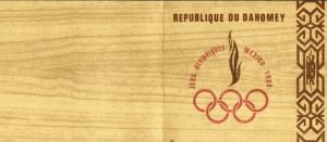 DAHOMEY C88a MNH S/S SCV $7.50 BIN $4.50 OLYMPICS