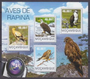 2014 Mozambique 7595-7598KL Birds of prey 10,00 €