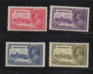 Newfoundland Sc 226-9 1935 G V Silver Jubilee stamp set mint