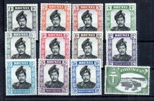 Brunei 1952 mint MH short set to $1 WS15095