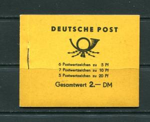 Germany 1955  Complete booklet LP3608/55  Mi MH 1 MNH  7301