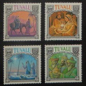 Tuvalu 558-61. 1990 Christmas, NH
