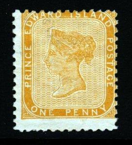 PRINCE EDWARD ISLAND CANADA QV 1862 1d Orange-Buff  Perf 11¾x12 SG 10 MINT