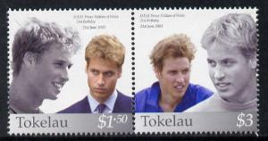 Tokelau 2003 Prince William\'s 21st Birthday se-tenant pa...