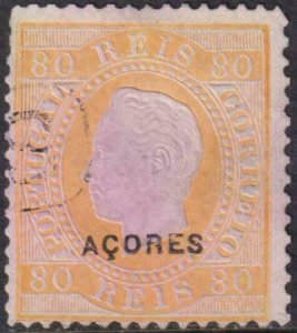 Azores 1882-1885 SC 53 Used 12.5 perf